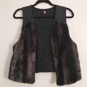 Free People Faux Fur Vest
